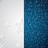 Snöig bakgrund Arkivbild