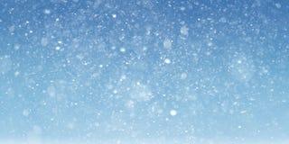 Snöig bakgrund Royaltyfri Bild