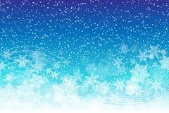 Snöig bakgrund för ferie med snöflingor stock illustrationer