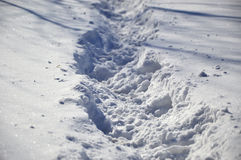 Snöig bana Arkivfoton