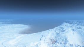 snöig berg Royaltyfri Foto