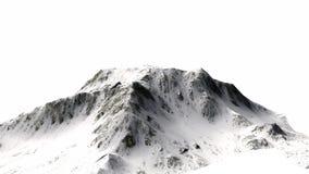 Snöig berg - bergmaximum - som isoleras på vit bakgrund Royaltyfria Bilder