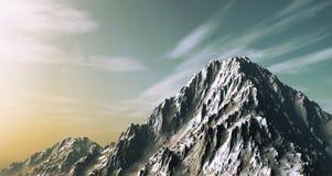 snöig berg 3D Fotografering för Bildbyråer