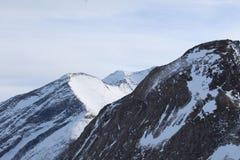 Snöig berg i Kaprun royaltyfria foton