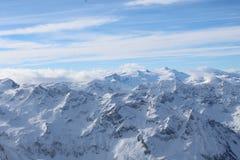 Snöig berg i Kaprun Royaltyfri Foto