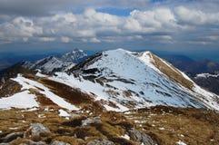 Snöig berg i Slovakien Royaltyfri Bild