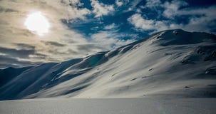Snöig berg Timelapse 4k lager videofilmer