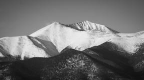 Snöig bergmaximum Fotografering för Bildbyråer