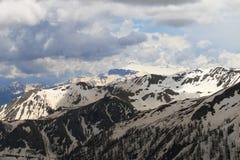 Snöig bergskedjor, maritima fjällängar, Frankrike Fotografering för Bildbyråer