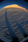 snöig bergssida Royaltyfri Fotografi