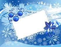 snöig blå jul för bakgrund Royaltyfria Bilder