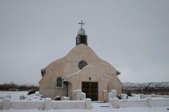 snöig chruch Arkivbilder