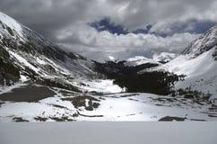 Snöig Colorado landskap Arkivbild
