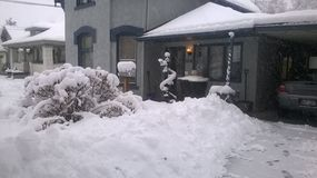snöig dag Arkivfoton