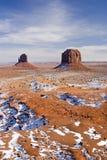 snöig dal för monument Royaltyfri Foto
