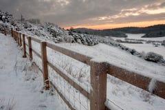 snöig engelsk liggande Royaltyfria Foton