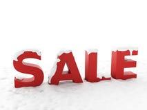Snöig försäljning Vinterrabattbegrepp Royaltyfria Bilder