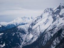 Snöig fjällängar i Österrike Fotografering för Bildbyråer