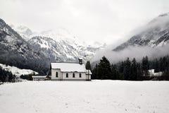 Snöig fjällängar, Tyskland Arkivfoto