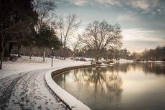 Snöig frihet parkerar Fotografering för Bildbyråer