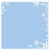 snöig fyrkant för bakgrund Royaltyfri Fotografi