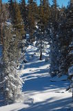 Snöig gränd Royaltyfri Fotografi