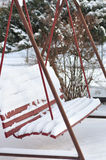 Snöig gunga Royaltyfri Bild