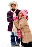 snöig gyckel Arkivfoto