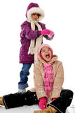 snöig gyckel Royaltyfria Foton