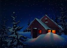 snöig jul stock illustrationer