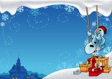 snöig jul Arkivbilder