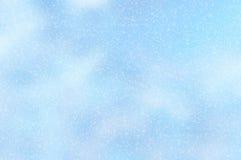 Snöig julbakgrund 5 Arkivbilder