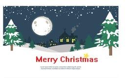 Snöig julbakgrund med sörjer Fotografering för Bildbyråer