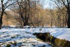Snöig kanal Royaltyfria Foton