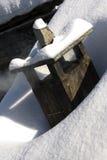 snöig lampglas royaltyfri fotografi
