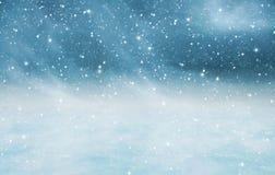 Snöig landskaptextur Royaltyfria Foton