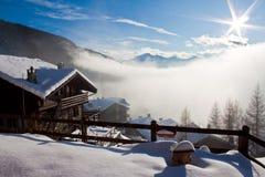 snöig liggande Arkivbilder