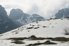 Snöig liggande Royaltyfria Bilder