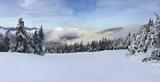 Snöig lutning arkivfoto