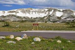 Snöig område, Wyoming arkivfoto