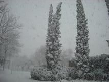 Snöig parkera Europa Arkivbild
