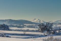 Snöig Shropshire arkivfoto