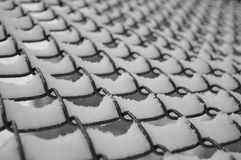 Snöig staket Royaltyfria Bilder
