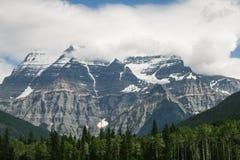 Snöig steniga berg Alberta Canada Royaltyfri Bild