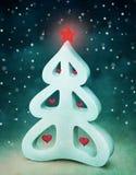 Snöig tree Royaltyfria Bilder