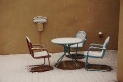 Snöig uteplats Royaltyfri Fotografi