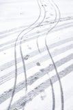Snöig väg fotografering för bildbyråer