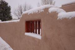 Snöig vägg för stuckatur Royaltyfri Foto
