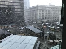 Snöig Vancouver Arkivfoton