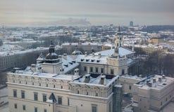 Snöig Vilnius royaltyfria foton